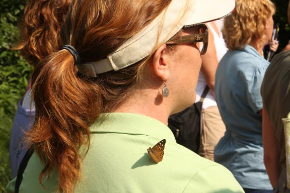 Jennifer Schamber and butterfly