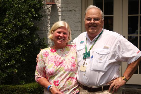 Master Gardener Claire Chosid and Jack Lane