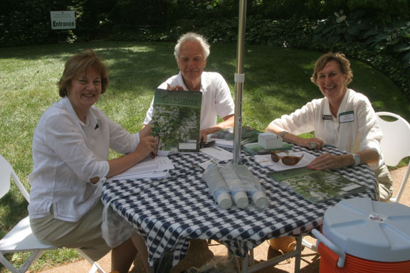 Master Gardeners Jan Hermann and Sheila Hoffmeister with Carl Hermann