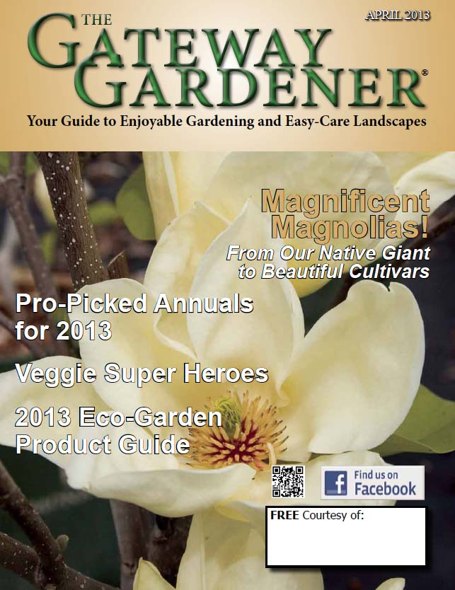 An image of The Gateway Gardener April 2013 cover