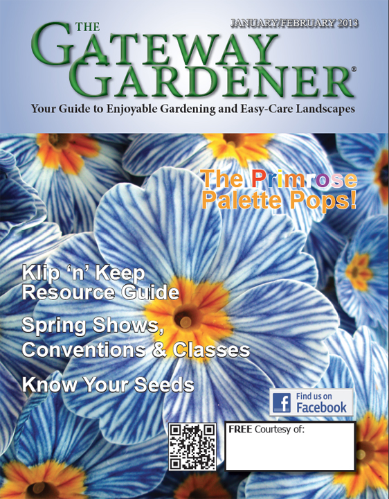 An image of the Jan-Feb 2013 Gateway Gardener Magazine cover
