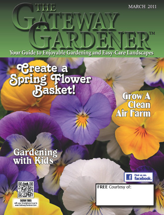 An image of the cover of the March 2011 issue of The Gateway Gardener