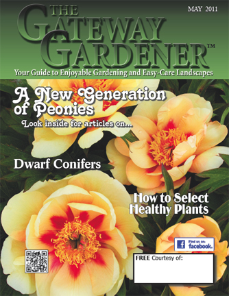 An image of The Gateway Gardener magazine May 2011 cover