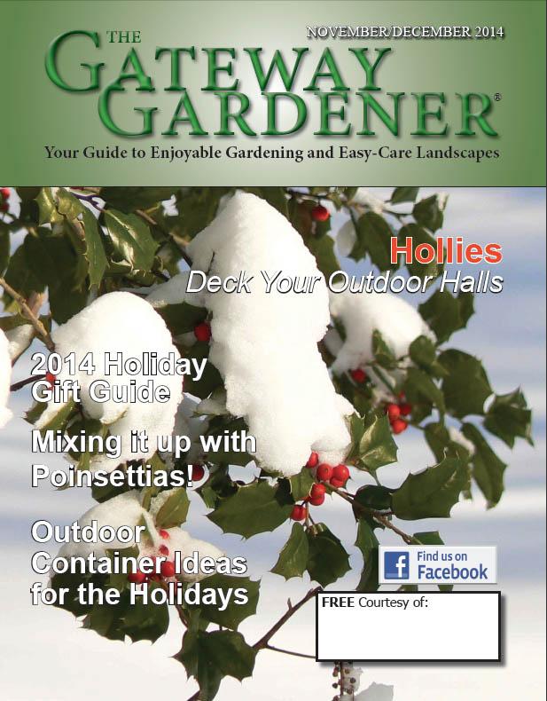 The cover image for The Gateway Gardener November/December 2014 issue