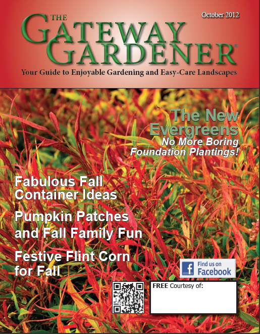 Cover image of Gateway Gardener magazine October 2012 issue