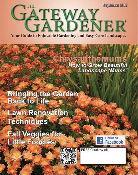 an image of the September Gateway Gardener magazine cover