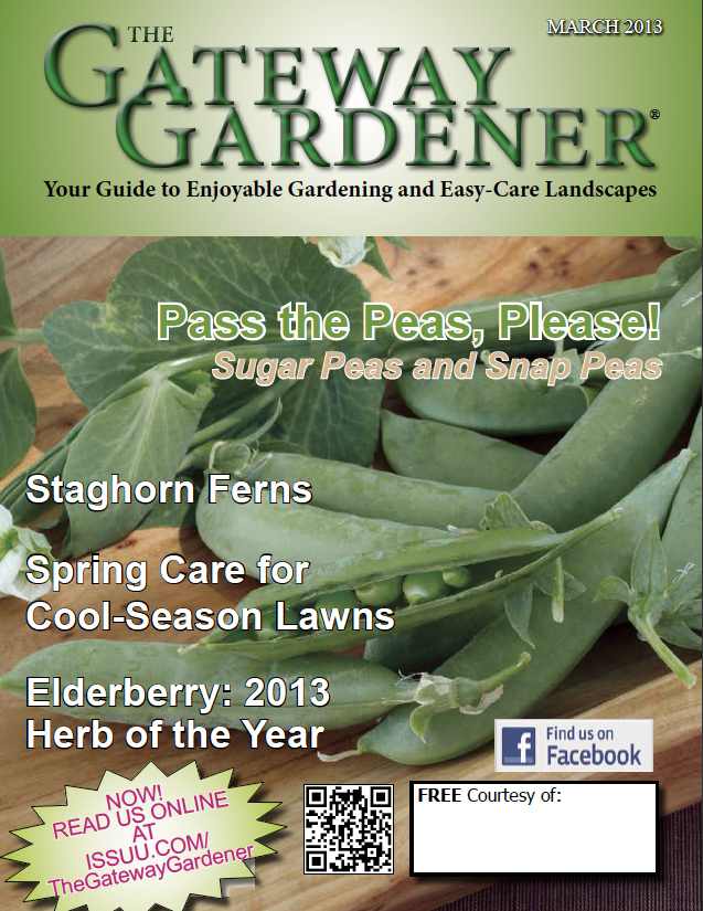 The cover of The Gateway Gardener March 2013
