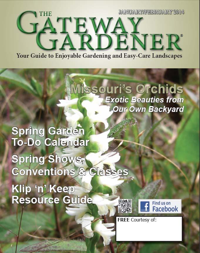 The Cover of The Gateway Gardener Jan/Feb 2014 issue