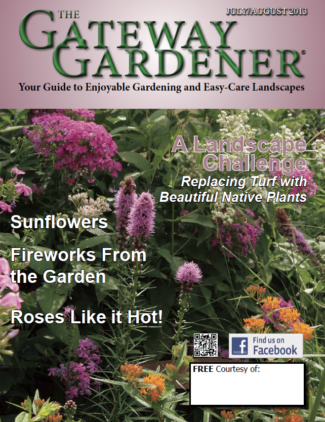 Cover photo of The Gateway Gardener July/August 2013 issue