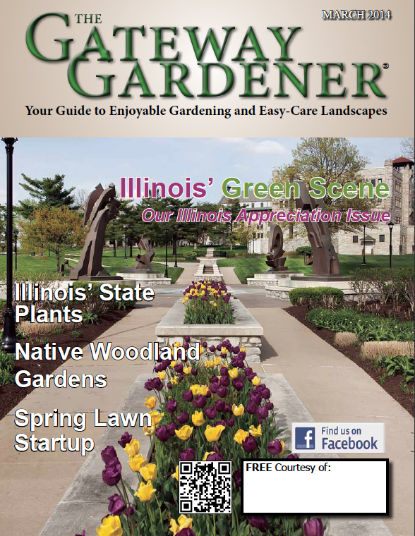 An image of the cover of The Gateway Gardener March 2014 magazine