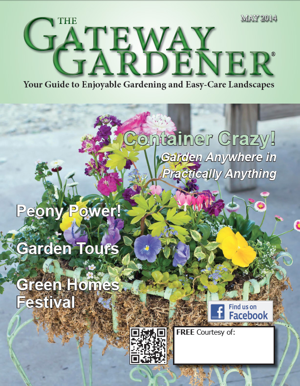 An image of the cover of the May 2014 issue of The Gateway Gardener