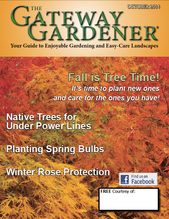 An image of the cover of the Gateway Gardener October 2014 issue.