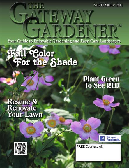 an image of the September 2011 cover of The Gateway Gardener