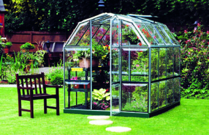 a picture of an economical home greenhouse