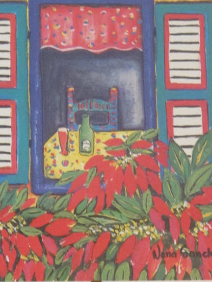 an illustration representing a tropical Christmas scene