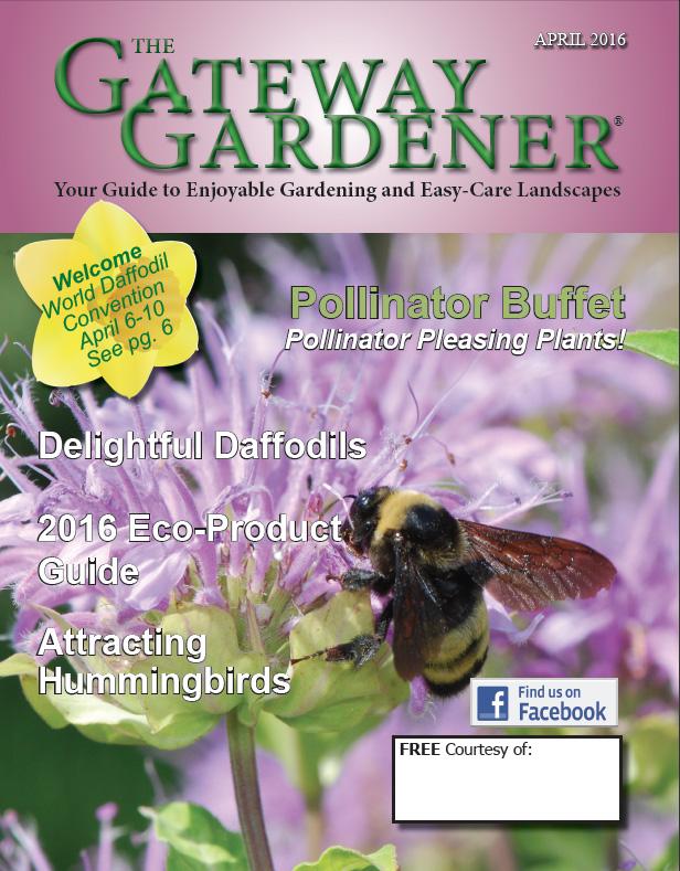 The cover artwork for The Gateway Gardener April 2016 issue.