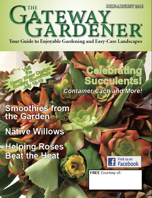 An image of the Gateway Gardener magazine cover for July-August 2015