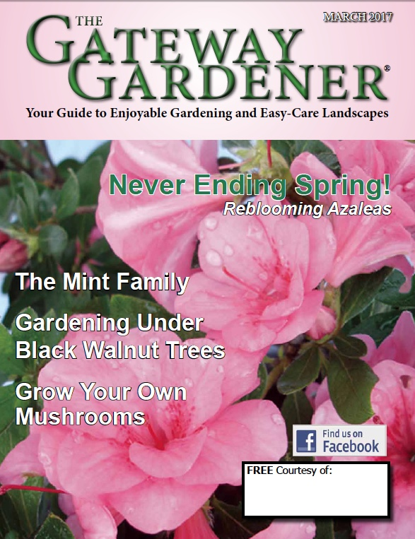 an image of the March 2017 cover of The Gateway Gardener magazine