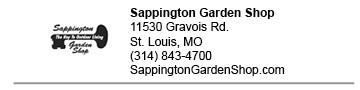 Sappington Garden Shop link
