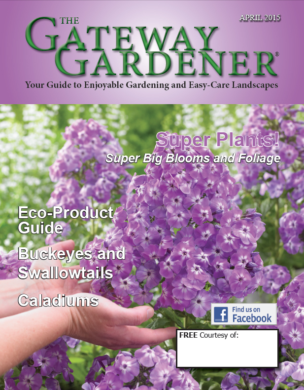 An image of the cover of the April 2015 Gateway Gardener Magazine