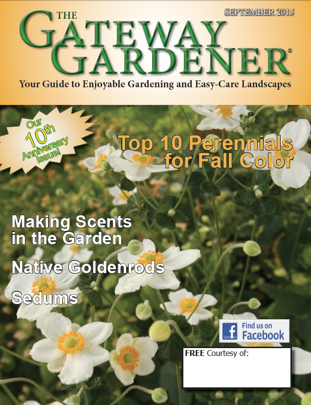 An image of the cover of the Gateway Gardener Sept. 2015 issue.