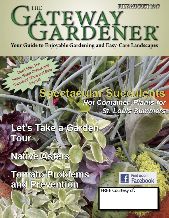 An image of the Gateway Gardener July/August 2017 cover