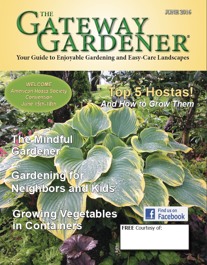 An image of the cover of The Gateway Gardener June 2016.