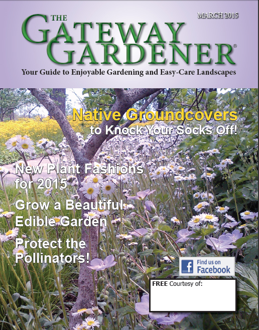 An image of the cover of The Gateway Gardener March 2015