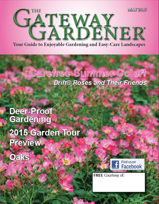 An image of the cover of the May 2015 issue of The Gateway Gardener.