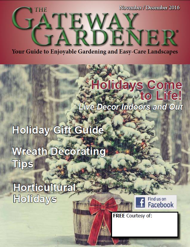 Cover of The Gateway Gardener November/December 2016 issue