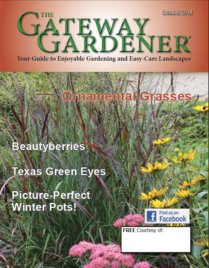 An image of the cover of the Gateway Gardener October 2015 issue.