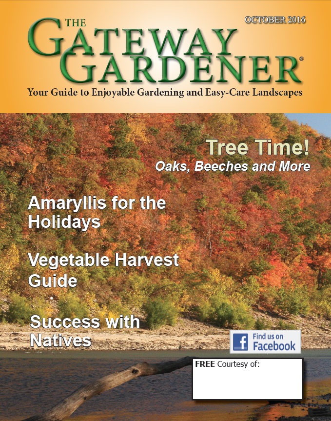 An image of the cover of The Gateway Gardener October 2016 issue.