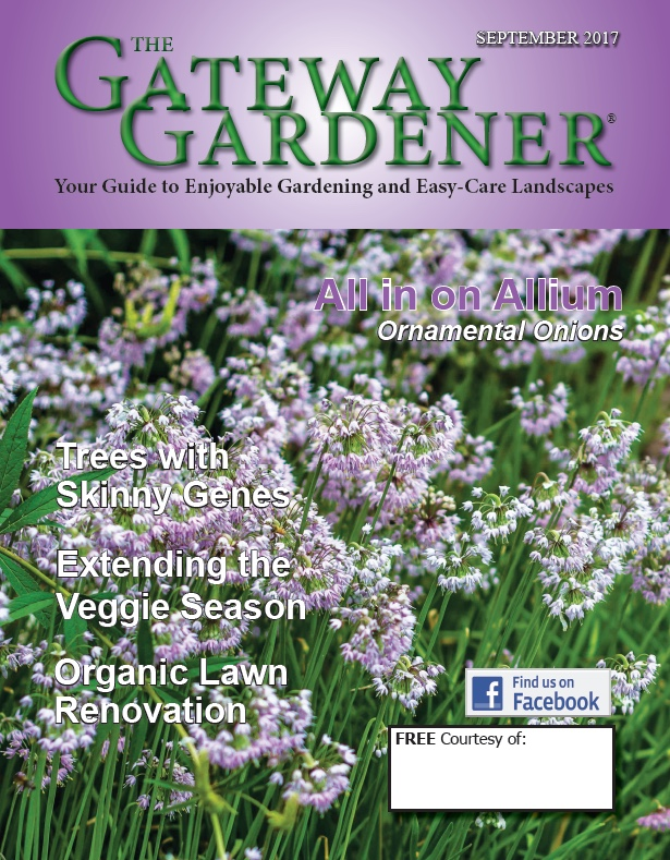 An image of the cover of The Gateway Gardener Sept. 2017 issue