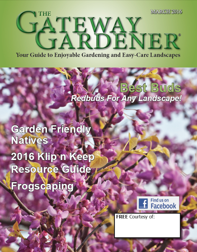 A photo of the cover for The Gateway Gardener March 2016.