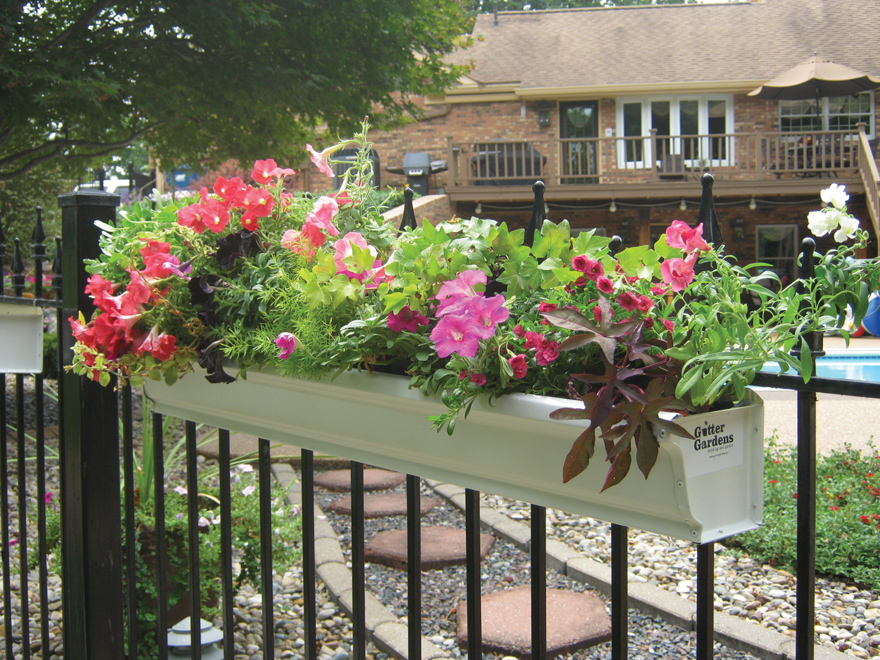 A picture of a Gutter Garden planter.