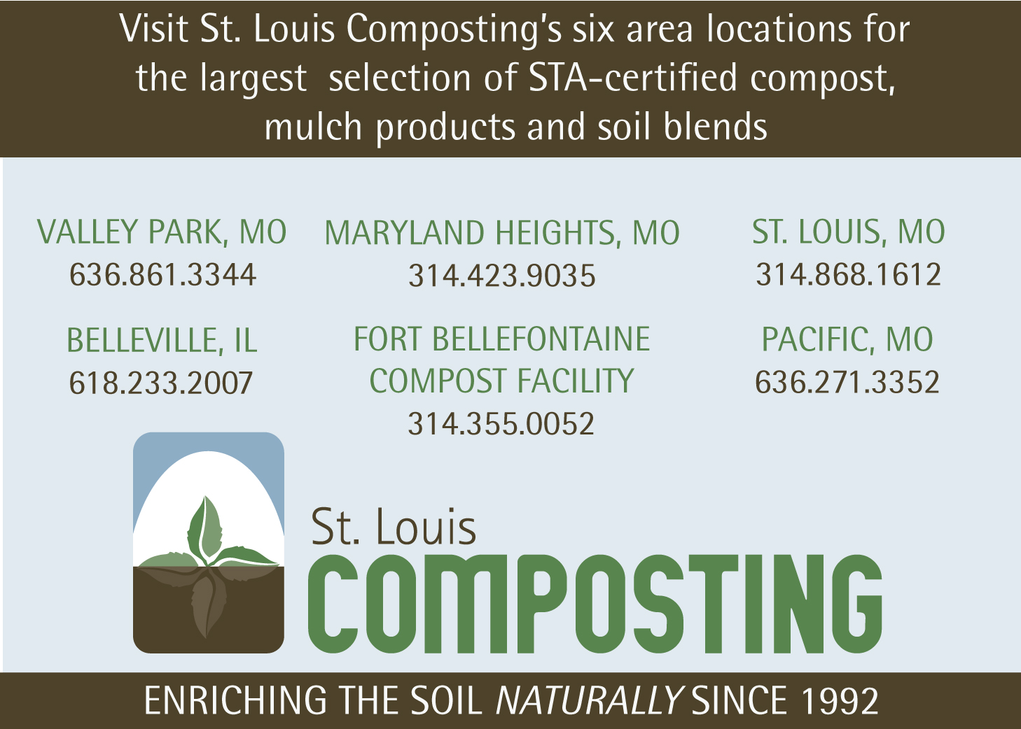St. Louis Composting ad for GatewayGardener.com
