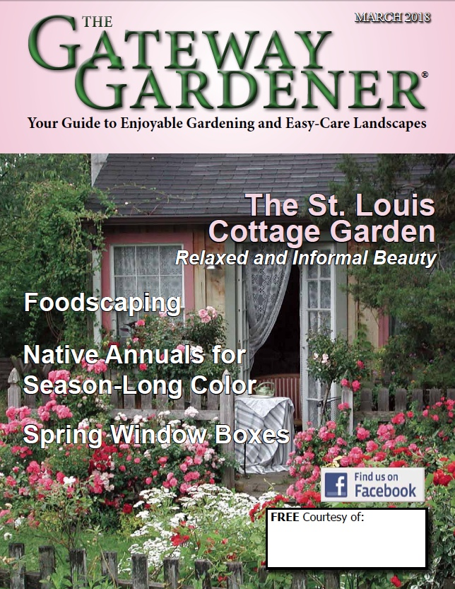 An image of The Gateway Gardener March 2018 cover