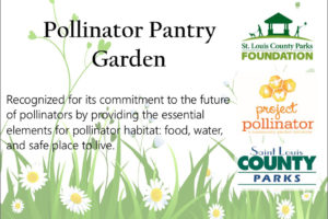 An image of the Pollinator Pantry Garden sign