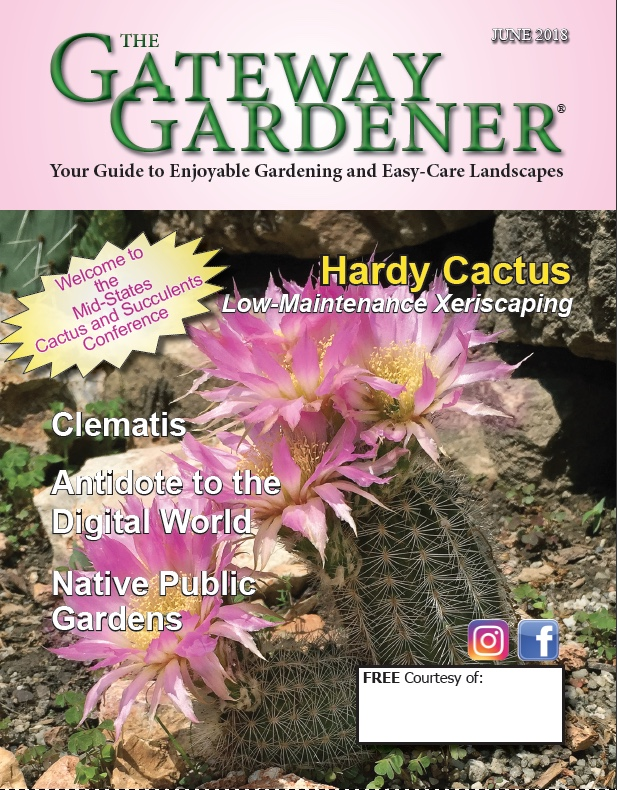 An image of the cover of The Gateway Gardener June 2018 issue