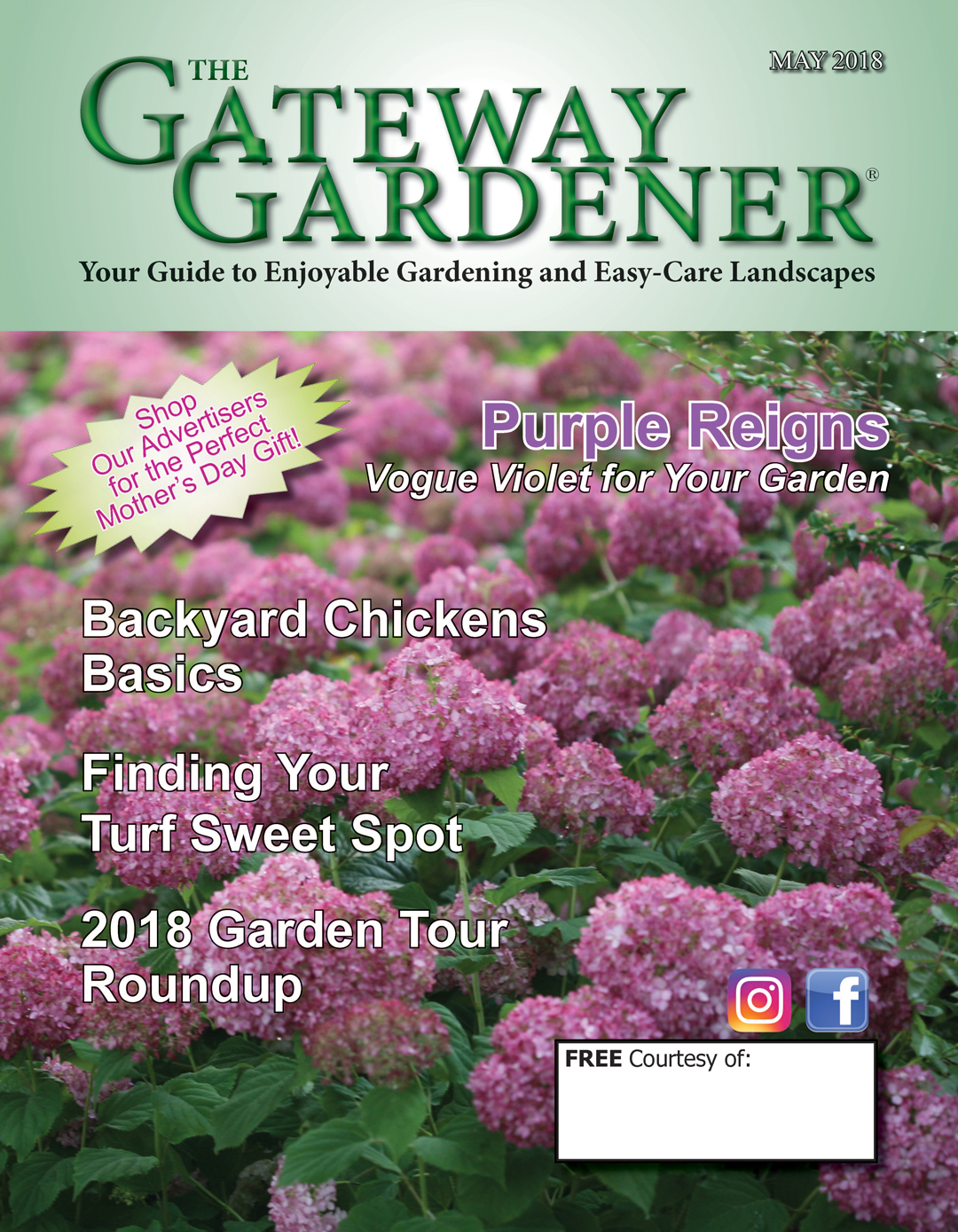 An image of the cover of the May 2018 Gateway Gardener magazine