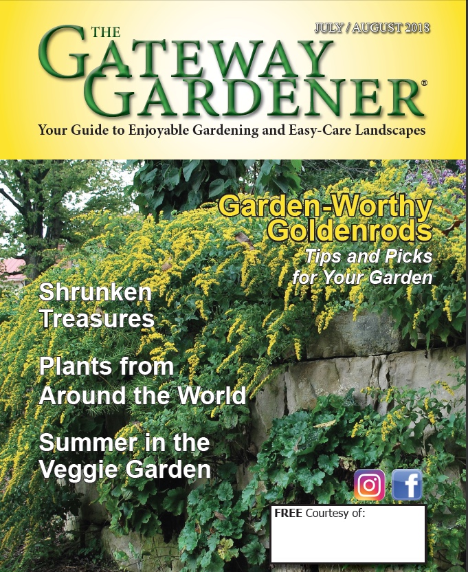 An image of the cover of The Gateway Gardener July/August 2018 cover.