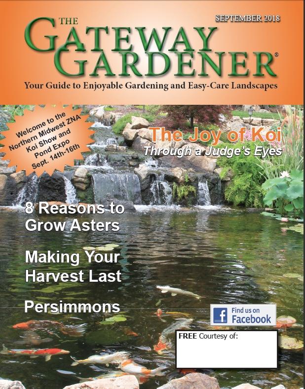 An image of the cover art for the Sept 2018 Gateway Gardener
