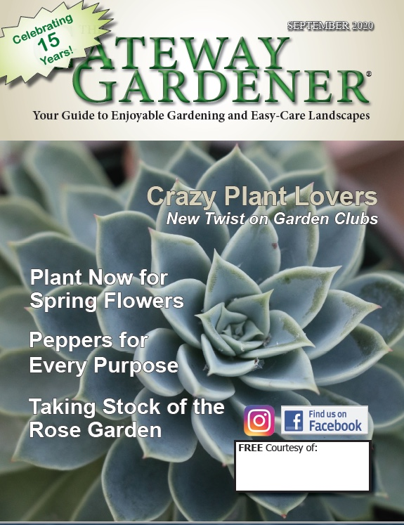 A picture of the Gateway Gardener September 2020 cover
