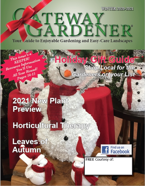 A photo of the Gateway Gardener Winter 2020 cover