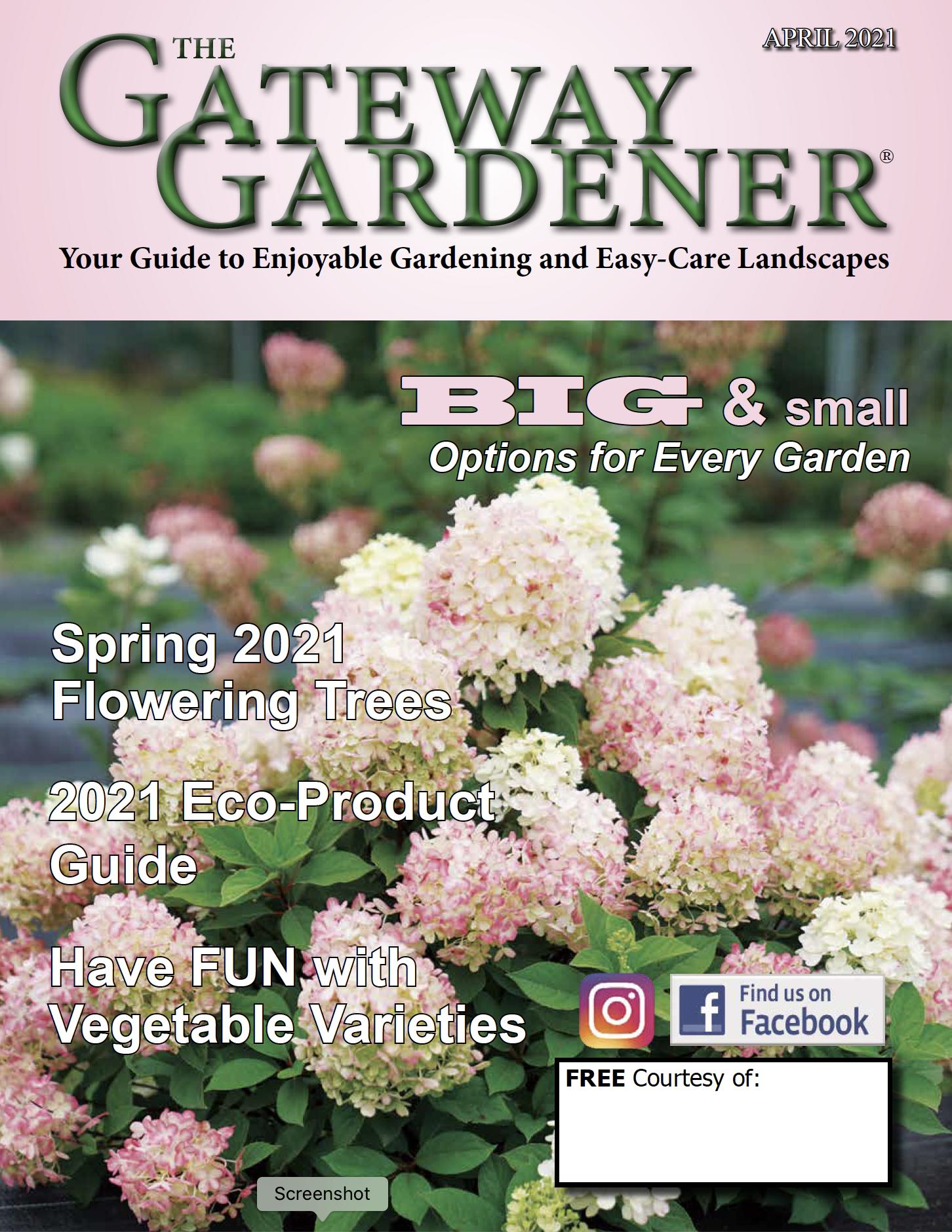 Gateway Gardener April 2021 cover image